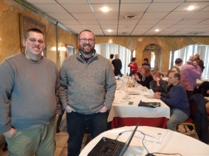Doug and Jeff Senterman at MHADK dinner meeting