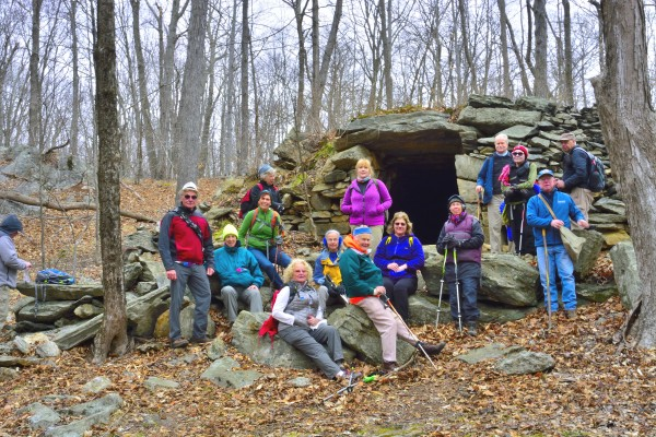 """ADK Hike to the King""""s Chamber in Fafnestock SP on 3/26/16"""