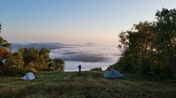 Evening on the summit of Catamount