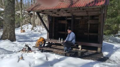 Winter Hike Break, photo courtesy Eric Harvey
